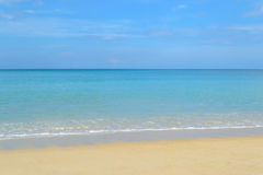 Beautiful blue sky at Kamala beach in Phuket Stock Images