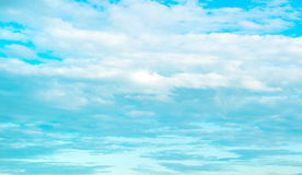 Beautiful blue sky with lots of clouds Stock Photos