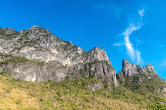 Beautiful blue sky with mountain Stock Photography