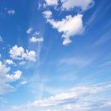 Beautiful blue sky. Natural background stock photos