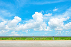 Beautiful blue sky - roadside view Royalty Free Stock Images