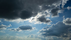 Beautiful blue sky. And silhouette cloud Royalty Free Stock Photos