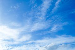 Beautiful Blue Sky with Small White Clouds Royalty Free Stock Photo