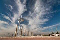 Beautiful blue sky with structures Stock Image