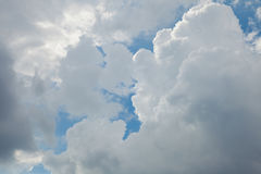 Beautiful blue sky and sun light, The formation of rain clouds. royalty free stock images