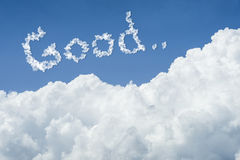 Beautiful Blue sky and white cloud. Sunny day.Cloudscape.close up the cloud.text good.feel good concept.better life concept Royalty Free Stock Image