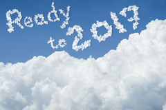 Beautiful Blue sky and white cloud. Sunny day.Cloudscape.close up the cloud.text ready to 2017.end of the 2016 year concept. Get ready to better life in new Royalty Free Stock Photography