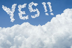 Beautiful Blue sky and white cloud. Sunny day.Cloudscape.close up the cloud.text YES. Stock Photos