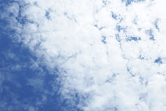 Beautiful blue sky stock images