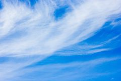 Beautiful blue sky with white clouds background stock photo
