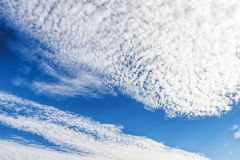 Blue sky with white clouds. Sky background. Beautiful blue sky with white clouds. Sky background Stock Photo