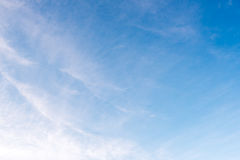 Beautiful blue sky white clouds background Stock Images