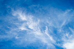 Beautiful blue sky and white clouds stock images