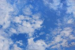 Beautiful blue sky with white clouds royalty free stock photography