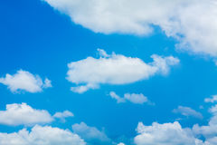 Beautiful blue sky with white clouds Royalty Free Stock Image