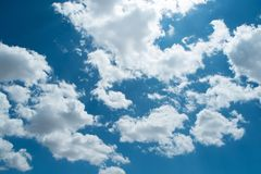 Beautiful blue sky stock photography