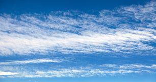 Beautiful blue sky with white clouds. View of beautiful blue sky with white clouds Stock Images
