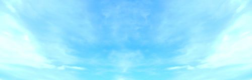 Beautiful blue sky with white fluffy clouds in summer morning peace day as a background stock photo