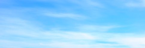 Beautiful blue sky with white fluffy clouds in summer morning peace day as a background royalty free stock images