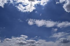 Free Beautiful Blue Sky With Clouds Background Stock Photo - 155064250