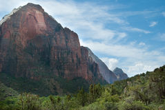 Beautiful blue skyline with mountain view landscape. Mt. Zion National Park, St. George, UT Stock Image