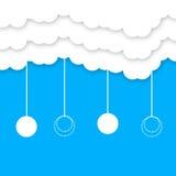 Beautiful blue skype & clouds Royalty Free Stock Photos