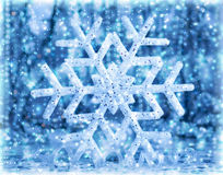 Beautiful blue snowflake Royalty Free Stock Photo