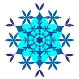 Blue snowflake on white background vector illustration