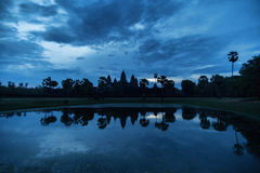 Beautiful blue sunrise at Angkor Wat temple Royalty Free Stock Images