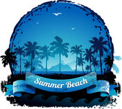 Beautiful blue tropical summer vacation background Royalty Free Stock Images
