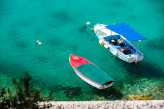 Beautiful blue water, beach in Croatia Royalty Free Stock Image