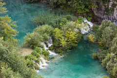 Beautiful blue water lake in Plitivice National Park. Croatia, Eastern Europe Stock Photography