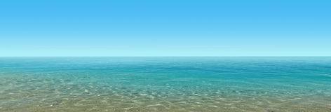 Beautiful blue water Royalty Free Stock Photography