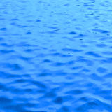 Beautiful blue wave on skin water as background texture Stock Images