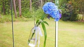 Beautiful blue wedding flowers. stock images