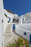Beautiful blue & white at Imerovigli , Santorini Royalty Free Stock Images