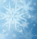 Beautiful blue winter background Royalty Free Stock Photography