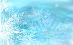 Beautiful blue winter background Royalty Free Stock Photos
