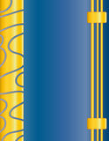Beautiful blue and yellow background. With border Stock Photos