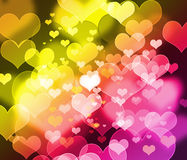 Beautiful blur heart background Stock Photography