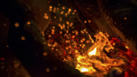 Beautiful blurred flame in the fire Royalty Free Stock Photo
