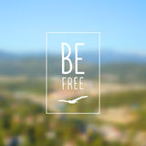 Beautiful blurred landscape Royalty Free Stock Images