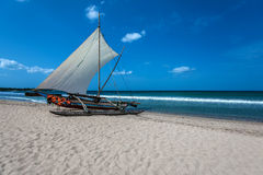 Beautiful boat in the beach in Trincomalee Royalty Free Stock Photos