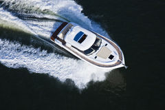 Beautiful boat seen from above Stock Images