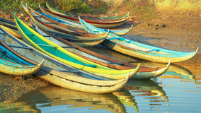 Beautiful Boats in Dam Nai Bay near Phan Rang, Vietnam Stock Photography
