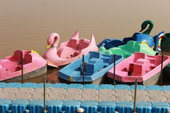 Beautiful boats in a lake Royalty Free Stock Images