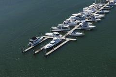 Beautiful boats at the marina Stock Images