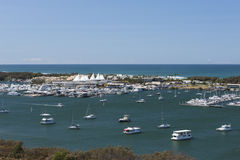 Beautiful boats on the marina in Surfers Paradise Royalty Free Stock Images