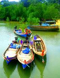 Beautiful boats from Thailand sea stock photo
