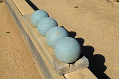 Beautiful bocce balls Stock Photos